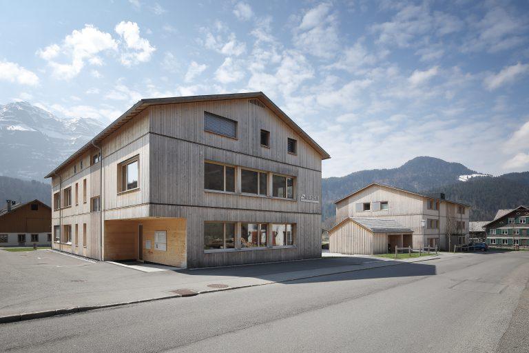 Projekt: Wohnanlage B1 Architekt: Johannes Kaufmann Architektur Ort: A-Bizau Datum: 2019/04