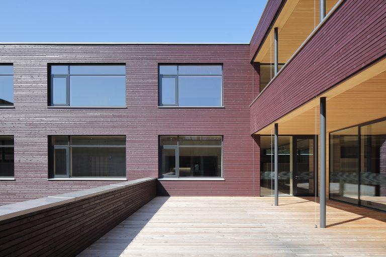 Projekt: Bäuerliches Schul- und Bildungszentrum für Vorarlberg Architekt: Hermann Kaufmann + Partner ZT GmbH / Querformat ZT GmbH Ort: A-Hohenems Datum: 2019/08